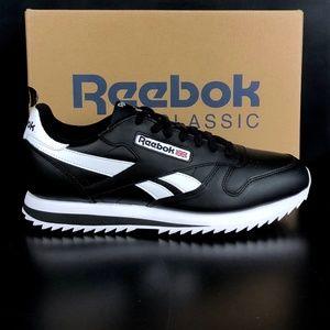 Reebok Black White CL Leather Ripple Low BP